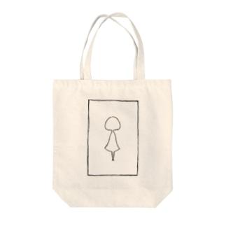ショウジョA(白) Tote bags