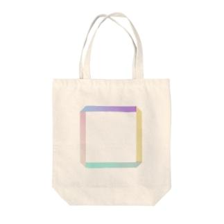 四角テル Tote bags
