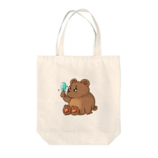 くまの熊野さん Tote bags