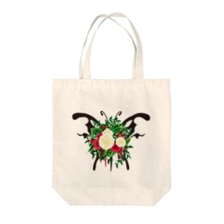 蝶ブーケ Tote bags