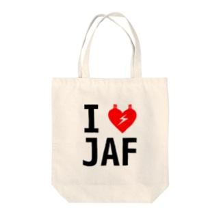 I LOVE JAF Tote bags