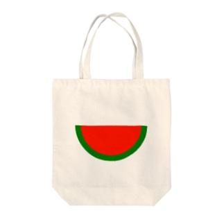 種なしスイカ1/2 Tote bags