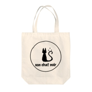 son chat noir Tote bags
