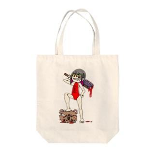 圧勝の金太郎 Tote bags
