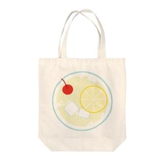 レモンスカッシュの平面図 Tote bags