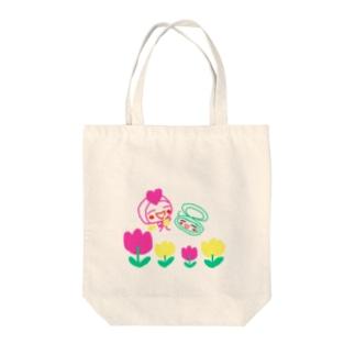 リーマンとぐっすりーぷちゃん Tote bags