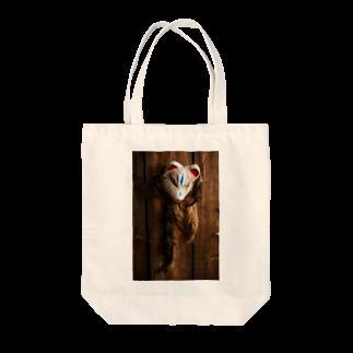 ネコ温泉♨の吊し狐面 Tote bags