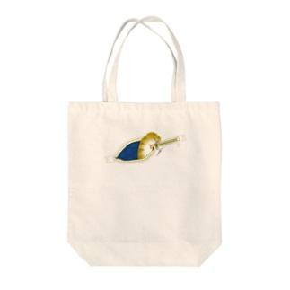 ねこじっぱー Tote bags