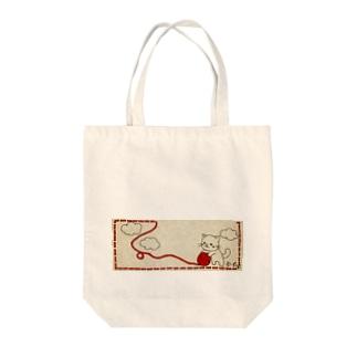 にゃんこ。 Tote bags