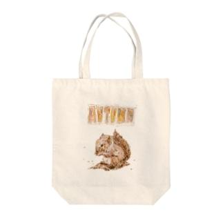 オータムリス Tote bags