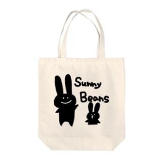 サニビウサギ(黒) Tote bags