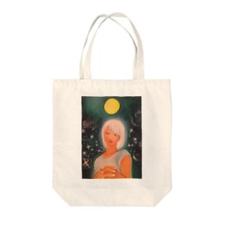 月夜 Tote bags