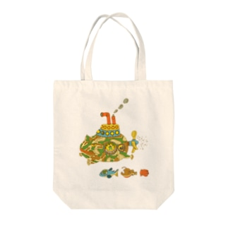 カエルのモッチ Tote bags