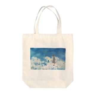 空を行く少女 Tote Bag