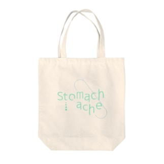 stomachache Tote bags