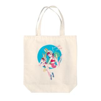 プールサイドバニー Tote bags
