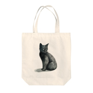 まっくろ子猫 トートバッグ