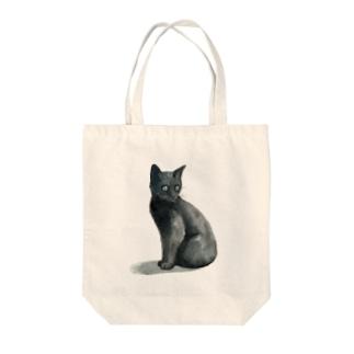 まっくろ子猫 Tote bags