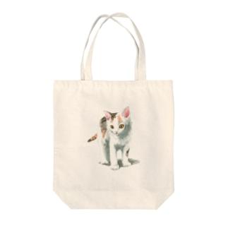 白三毛子猫 トートバッグ