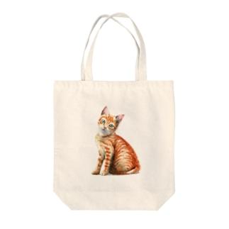 茶トラ子猫 Tote bags