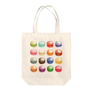 カラフルマカロン Tote bags