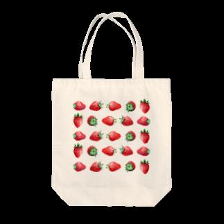 山田理矢のいちご Tote bags