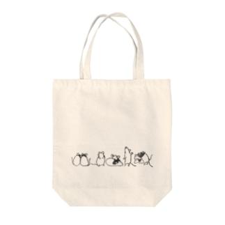 パンダマウスたち ライン Tote Bag