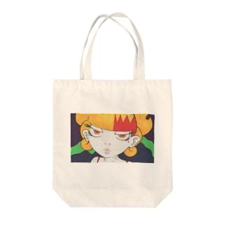 女の子作品010 顏 Tote bags