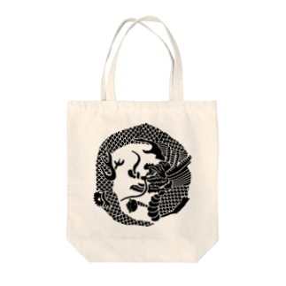 竜家紋 Tote bags