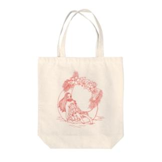月で休む Tote Bag