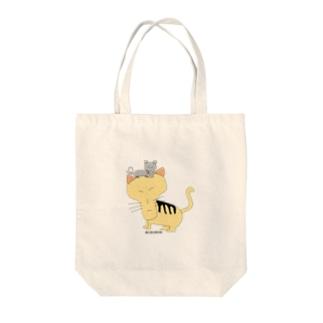 猫三郎と鼠五郎 Tote bags