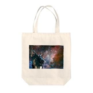 Space German shepherd-MKⅠ-W Tote bags