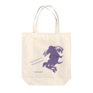 イーサリアムちゃん シルエット Tote bags