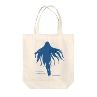 リップルちゃん シルエット Tote bags
