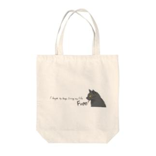 筆ネコ Tote bags