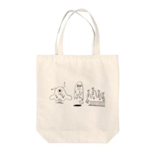 MONSTERS Tote bags