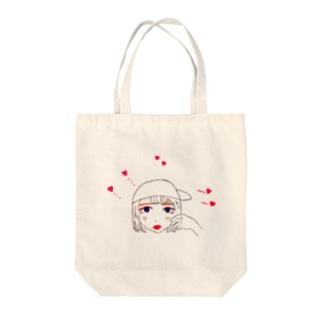 ほっぺギュー Tote bags