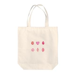 赤色とピンク色の宝石 Tote Bag