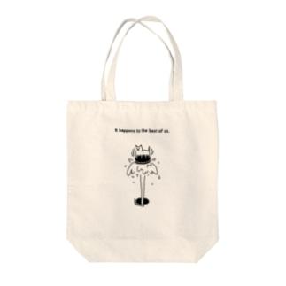 PokuStarのマンホールにネコ Tote bags