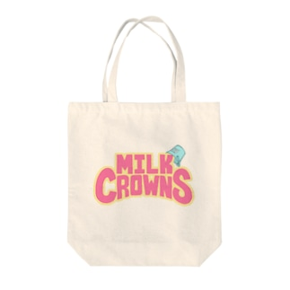 MILK CROWNS LOGO Tote bags