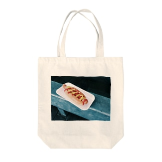 hot_dog Tote bags