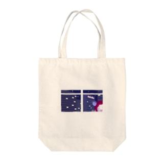 赤こあらのまろかちゃん(強制定時帰社キャンペーン中) Tote bags