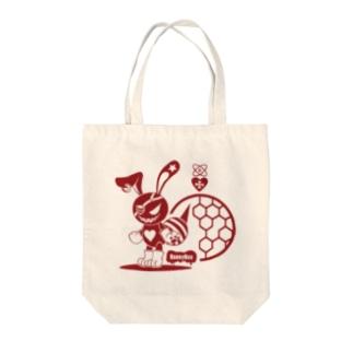 バニービー・アイパッチ/レッド Tote bags