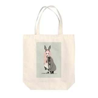 さみしがり屋のウサギちゃん Tote bags