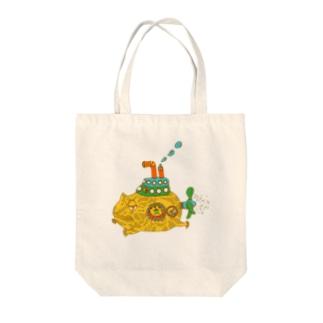 さちこの生き物雑貨のモッチ Tote bags