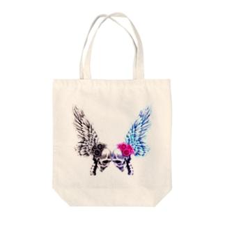 恋するガイコツ Tote bags