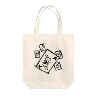 トランプにゃんひー Tote bags