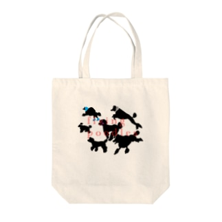 flying poodles Tote bags