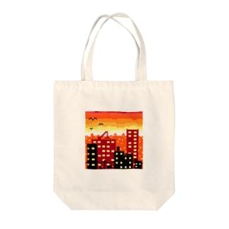 夕焼けドット Tote bags