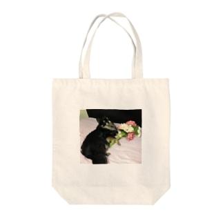 愛を込めてさん太郎と花束を Tote bags